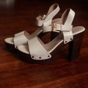 White BoHo Heels